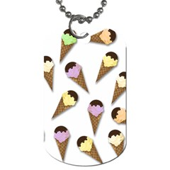 Ice Cream Pattern Dog Tag (one Side) by Valentinaart