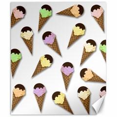 Ice Cream Pattern Canvas 20  X 24   by Valentinaart