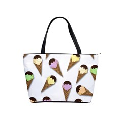 Ice Cream Pattern Shoulder Handbags by Valentinaart