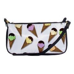 Ice Cream Pattern Shoulder Clutch Bags by Valentinaart