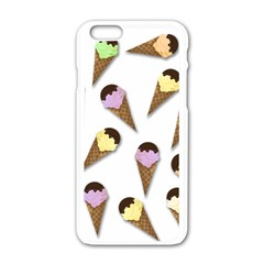 Ice Cream Pattern Apple Iphone 6/6s White Enamel Case by Valentinaart