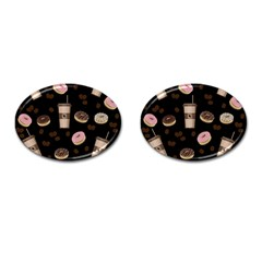 Coffee Break Cufflinks (oval) by Valentinaart