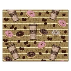 Coffee And Donuts  Rectangular Jigsaw Puzzl by Valentinaart