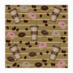 Coffee And Donuts  Medium Glasses Cloth (2 Side)