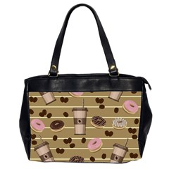 Coffee and donuts  Office Handbags (2 Sides)  by Valentinaart