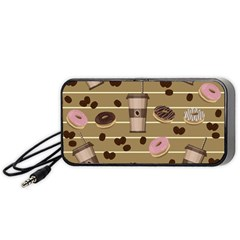 Coffee And Donuts  Portable Speaker (black) by Valentinaart