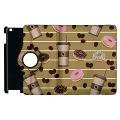 Coffee And Donuts  Apple Ipad 3/4 Flip 360 Case by Valentinaart