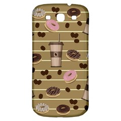 Coffee And Donuts  Samsung Galaxy S3 S Iii Classic Hardshell Back Case by Valentinaart