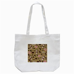 Coffee And Donuts  Tote Bag (white) by Valentinaart