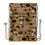 Coffee and donuts  Drawstring Bag (Large) Front