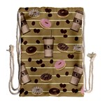 Coffee and donuts  Drawstring Bag (Large) Back