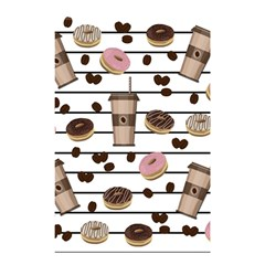 Donuts And Coffee Pattern Shower Curtain 48  X 72  (small)  by Valentinaart