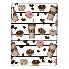 Donuts And Coffee Pattern Ipad Air Hardshell Cases by Valentinaart