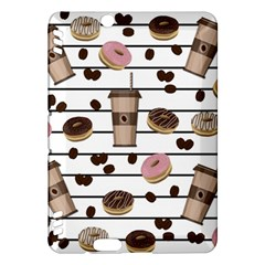 Donuts And Coffee Pattern Kindle Fire Hdx Hardshell Case by Valentinaart