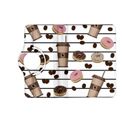 Donuts And Coffee Pattern Kindle Fire Hd (2013) Flip 360 Case by Valentinaart