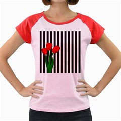 Tulips Women s Cap Sleeve T Shirt by Valentinaart