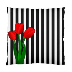 Tulips Standard Cushion Case (one Side) by Valentinaart