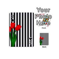 Tulips Playing Cards 54 (mini)  by Valentinaart