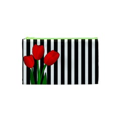 Tulips Cosmetic Bag (xs) by Valentinaart