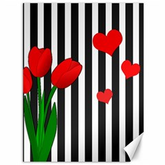 Tulips Canvas 36  X 48   by Valentinaart