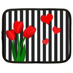 Tulips Netbook Case (xl)  by Valentinaart