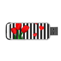 Tulips Portable Usb Flash (two Sides) by Valentinaart