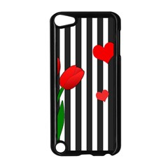 Tulips Apple Ipod Touch 5 Case (black) by Valentinaart