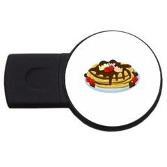 Pancakes   Shrove Tuesday Usb Flash Drive Round (2 Gb) by Valentinaart
