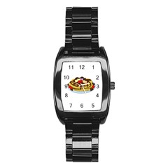 Pancakes   Shrove Tuesday Stainless Steel Barrel Watch by Valentinaart