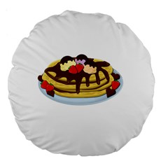 Pancakes   Shrove Tuesday Large 18  Premium Flano Round Cushions by Valentinaart