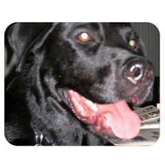 Black Lab Double Sided Flano Blanket (Medium)  by TailWags