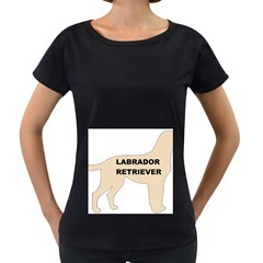 Labrador Retriever Yellow Name Color Silo Women s Loose-Fit T-Shirt (Black) by TailWags