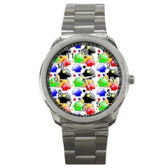 Pattern Background Wallpaper Design Sport Metal Watch