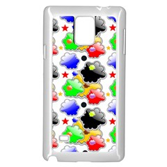 Pattern Background Wallpaper Design Samsung Galaxy Note 4 Case (white)