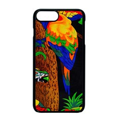 Parrots Aras Lori Parakeet Birds Apple iPhone 7 Plus Seamless Case (Black)