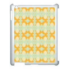 Sun Burst Apple iPad 3/4 Case (White) by CannyMittsDesigns