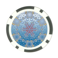 Pattern Background Pattern Tile Poker Chip Card Guard (10 Pack)