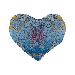 Pattern Background Pattern Tile Standard 16  Premium Flano Heart Shape Cushions