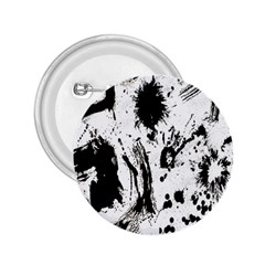 Pattern Color Painting Dab Black 2 25  Buttons