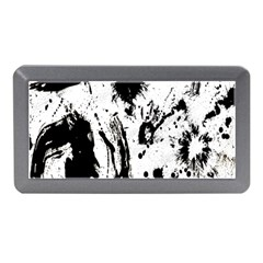 Pattern Color Painting Dab Black Memory Card Reader (mini)