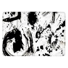 Pattern Color Painting Dab Black Samsung Galaxy Tab 10 1  P7500 Flip Case