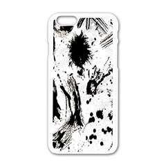 Pattern Color Painting Dab Black Apple Iphone 6/6s White Enamel Case by Nexatart