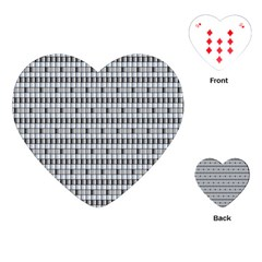 Pattern Grid Squares Texture Playing Cards (heart)  by Nexatart