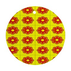 Pattern Design Graphics Colorful Round Ornament (two Sides)