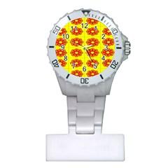 Pattern Design Graphics Colorful Plastic Nurses Watch