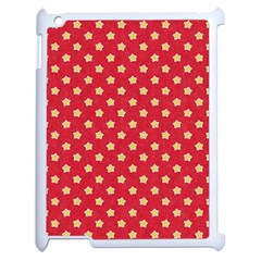 Pattern Felt Background Paper Red Apple Ipad 2 Case (white)