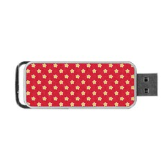 Pattern Felt Background Paper Red Portable Usb Flash (two Sides)