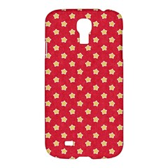 Pattern Felt Background Paper Red Samsung Galaxy S4 I9500/i9505 Hardshell Case