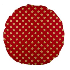 Pattern Felt Background Paper Red Large 18  Premium Flano Round Cushions