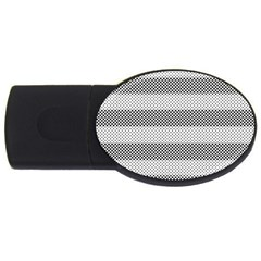 Pattern Half Tone Usb Flash Drive Oval (4 Gb)
